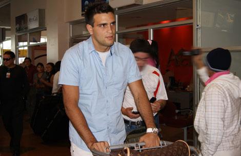 Federico Laurito en su llegada a nuestro país.